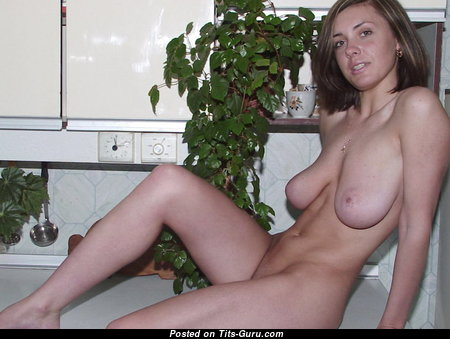 Lovely Mom with Lovely Bald Natural Tight Titties (Private Sex Photo)