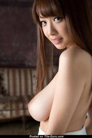 Image. Shion Utsunomiya - sexy naked asian brunette with medium natural boobies image