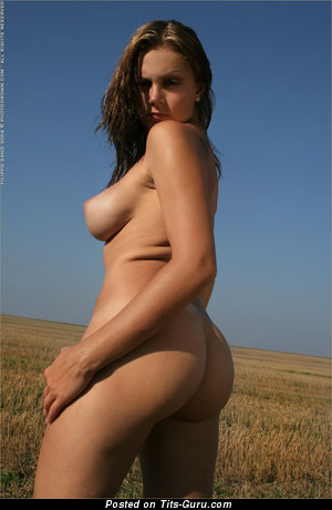Image. Beautiful woman with natural tittys photo
