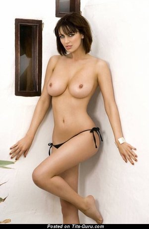 Image. Sexy naked hot lady with natural boob photo