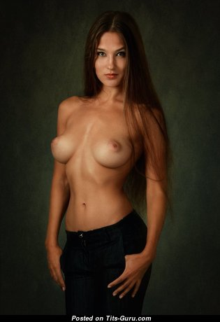 Charming Brunette with Charming Open Real C Size Tittys & Pointy Nipples (Hd Xxx Pic)