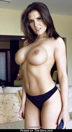 Austin Kincaid: sexy topless brunette with medium fake tittys photo