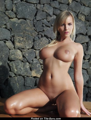Cikita - The Best Czech Blonde Babe with The Best Naked Natural Medium Jugs & Erect Nipples (Hd Sex Picture)