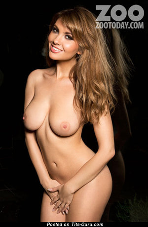 Image. Sophie Alexandra - sexy topless brunette with medium natural boobies pic