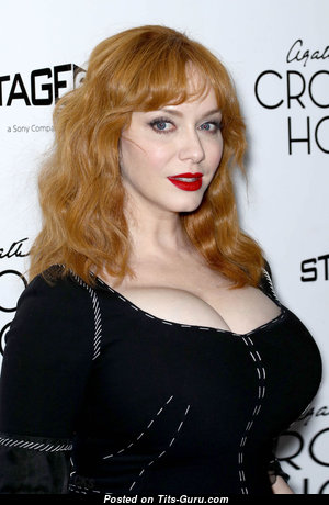 Christina Hendricks - Beautiful American Red Hair Actress, Girlfriend & Teacher with Beautiful Naked Big Sized Busts is Doing Fitness in the Shower (Hd Sex Picture)