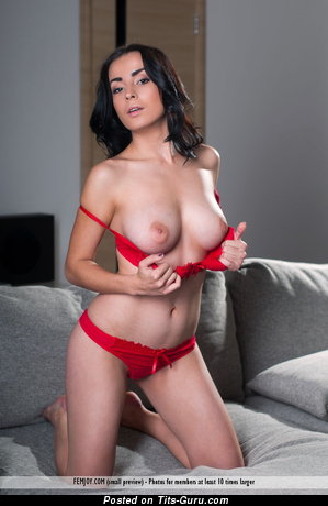Amazing Brunette with Amazing Defenseless Natural Firm Chest in Lingerie (Hd Xxx Picture)