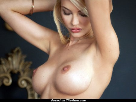 Graceful Blonde with Graceful Bare Regular Titties (Hd Porn Photo)