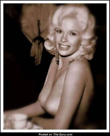 Image. Jayne Mansfield - naked blonde with natural tittes vintage
