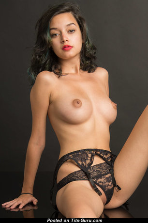 Appealing Topless Brunette Babe in Lingerie (Hd Porn Photo)