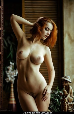 Nice Red Hair with Nice Nude Real Soft Melons (18+ Pix)