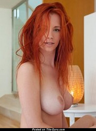 Exquisite Red Hair with Exquisite Open Real D Size Boobys (Sexual Photo)