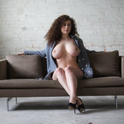 Hot girl with big natural boobies image