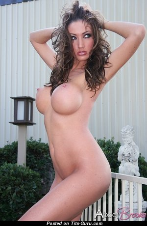 Image. Naked wonderful female with big fake boob image