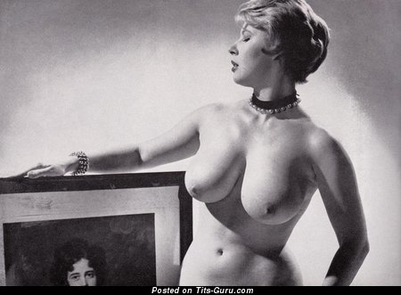 Image. Nude wonderful woman with big natural boobies vintage