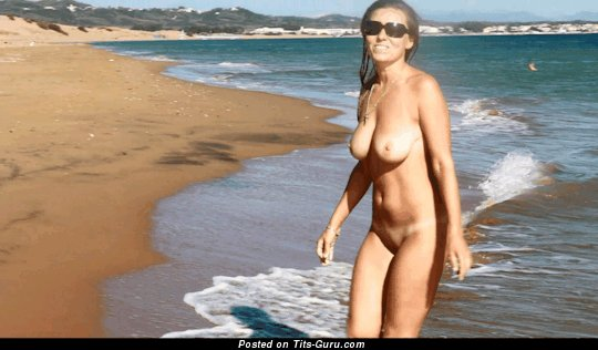Image. Wonderful lady with medium natural boobies gif