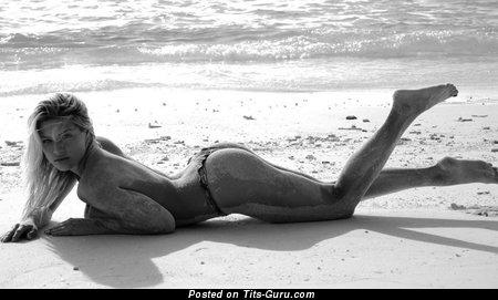 Eva Perkausova - Amazing Czech Blonde Babe with Amazing Bare Real Mega Boob (Sexual Image)
