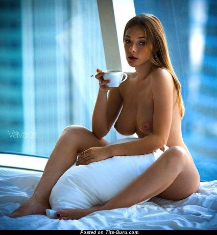 Image. Olga Kobzar - nude brunette with big natural tittys photo