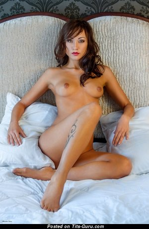 Nude amazing woman with small natural boobs picture