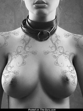 Image. Naked wonderful lady with tattoo pic