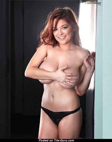 Tessa Fowler - Sweet Non-Nude & Topless American Red Hair Babe & Pornstar with Sweet Natural Big Sized Tit & Inverted Nipples (Sexual Foto)
