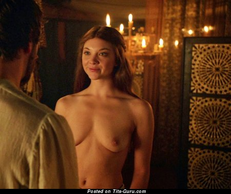 Natalie Dormer - Beautiful Topless & Wet British Blonde Babe & Actress with Beautiful Nude Natural Mini Boobies & Puffy Nipples (Vintage Xxx Picture)
