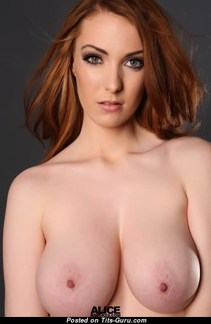 Alice Brookes - Cute British Red Hair Babe & Girlfriend with Cute Open Real Tittys & Piercing (Hd 18+ Pic)