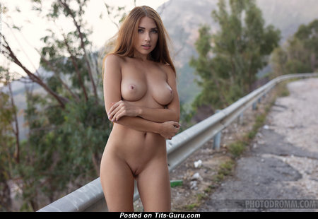 Niemira - Splendid Ukrainian Red Hair with Splendid Nude Natural Tit (Hd Porn Image)