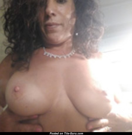 Arianalyn - Appealing Brunette Babe & Nurse with Appealing Bare Real Average Tots & Long Nipples in Lingerie is Undressing on the Party (Home Sexual Image)