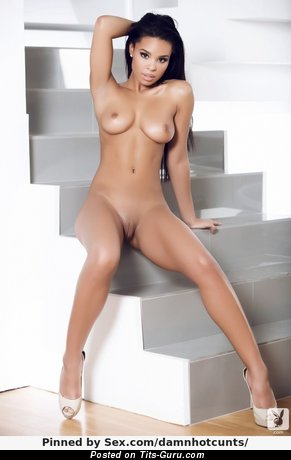 Image. Nude wonderful lady with medium natural boob photo