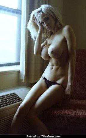 Amazing Gal with Amazing Naked Fake Substantial Knockers (18+ Image)