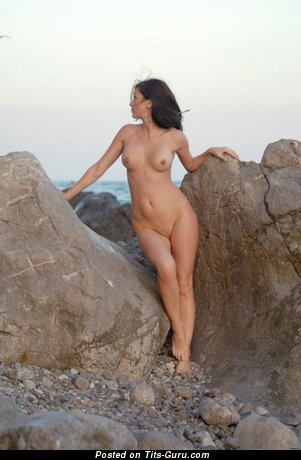 Image. Adel A - naked brunette with small natural boobs picture