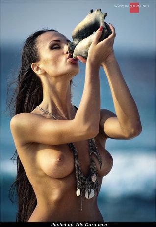 Image. Naked wonderful lady with medium boobies photo