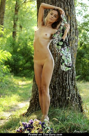 Image. Titty Tuesday - sexy naked wonderful woman with small natural boob image
