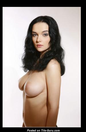 Evgeniya Diordychuk - Graceful Glamour Brunette with Graceful Bald Real D Size Boobys & Huge Nipples (Hd Porn Foto)