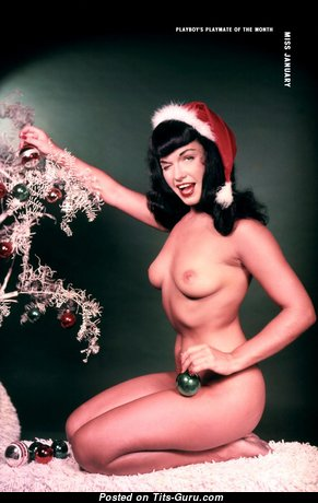 Betty Page - Hot Playboy Babe with Hot Bald Natural Knockers (Vintage Hd Xxx Photo)