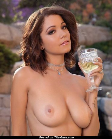 Grand Brunette with Grand Nude Real Normal Melons (Sexual Pic)