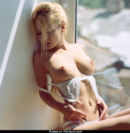 Nadia Rusu - Appealing Topless Skirt with Appealing Exposed Natural Average Jugs (Sex Wallpaper)