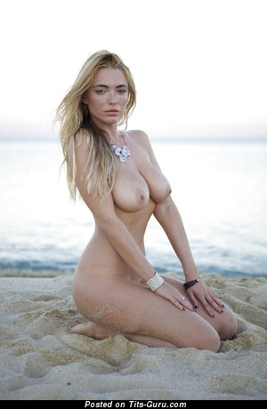 Image. April Summers - naked blonde with medium natural boobies photo