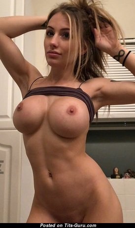 Elegant Babe with Elegant Open Silicone Mid Size Tits (Porn Wallpaper)