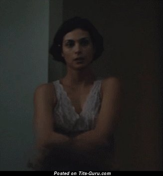 Morena Baccarin: topless latina brunette with medium natural tittys gif