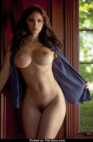 Image. Nude amazing woman with big fake breast photo