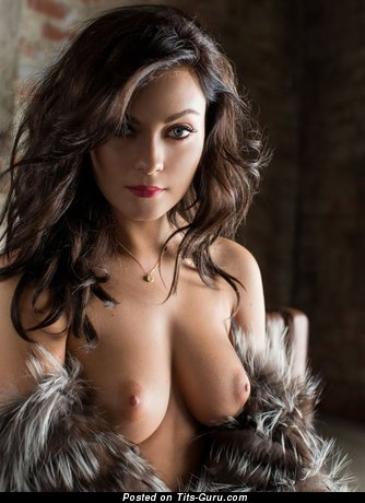 Image. Nude hot woman with medium natural boobies photo