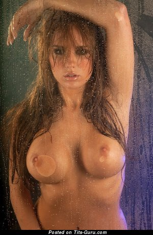 Image. Naked nice woman with big fake breast image