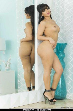 Rose Monroe - Good-Looking Venezuelan Brunette Pornstar with Good-Looking Nude Real Tots (Hd Xxx Photo)