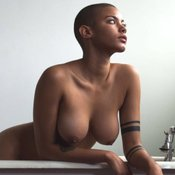 Ebony with big natural tittes image
