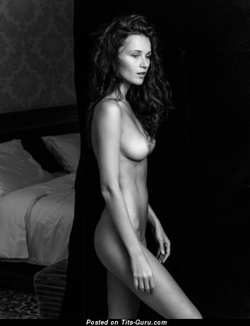Sexy nude hot woman with natural breast image