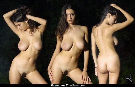 Image. Felicity Fey - nude brunette with medium natural breast photo