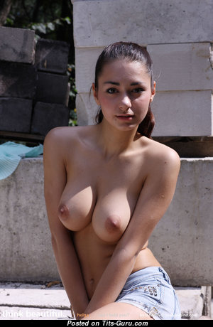 Helga Lovekaty - Beautiful Topless Russian Brunette Babe with Beautiful Defenseless Natural Average Tits & Inverted Nipples (Hd Porn Pix)