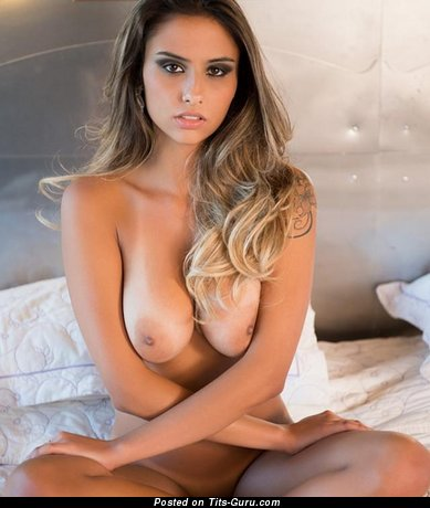 Ellen Sapori - Pleasing Brazilian Gal with Pleasing Naked Real Ddd Size Tots (Porn Picture)