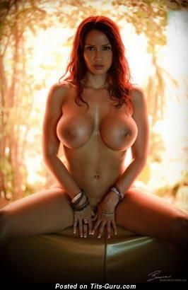 Image. Nude hot girl with big fake boobs photo